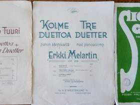 Pianonuotteja ym. 1920-30-luvulta, Pianot, urut ja koskettimet, Musiikki ja soittimet, Hämeenlinna, Tori.fi