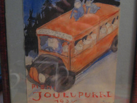 Rudolf Koivun akvarelli 1032 Joulupukki, Muu keräily, Keräily, Helsinki, Tori.fi