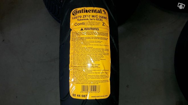 Continental motion 120/70R17