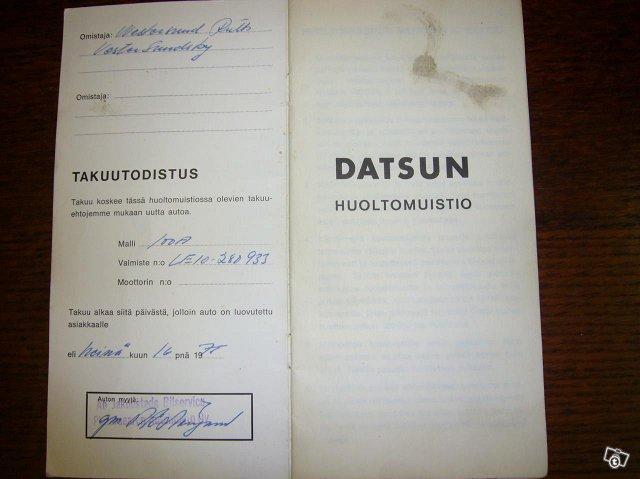 Datsun 100 A 1975 8