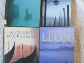 Donna Leon neljä kirjaa, Imatra/posti, Kaunokirjallisuus, Kirjat ja lehdet, Imatra, Tori.fi