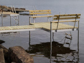 Alumiinirunkoinen LP-laituri, Komia 4,6m, Muu piha ja puutarha, Piha ja puutarha, Lappajärvi, Tori.fi