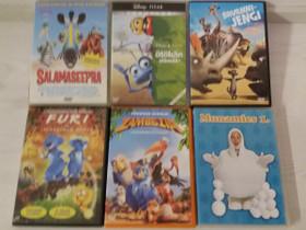 Lasten dvd elokuvat 6 kpl, Elokuvat, Jyväskylä, Tori.fi