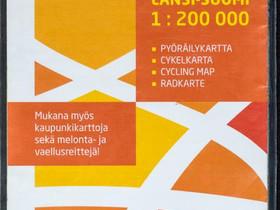 GT2 pyöräilykartta Länsi-Suomi 1:200 000, Pyörätarvikkeet ja kypärät, Polkupyörät ja pyöräily, Kontiolahti, Tori.fi