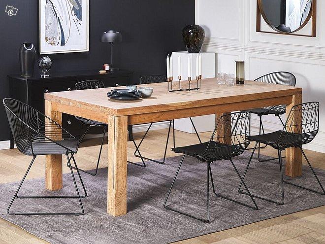 Ruokapöytä 200x100cm puinen TESA