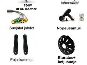 750W E-SPIN Bafang muunnossarja, Sähköpyörät, Polkupyörät ja pyöräily, Kerava, Tori.fi