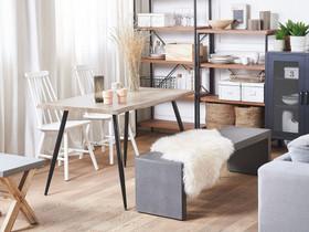 Ruokapöytä 120 x 80 cm vaalea puu/musta LUTON, Pöydät ja tuolit, Sisustus ja huonekalut, Tuusula, Tori.fi