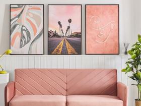 Kehystetty taulu 63x93 cm vaaleanpunainen ASTI, Sisustustavarat, Sisustus ja huonekalut, Tuusula, Tori.fi