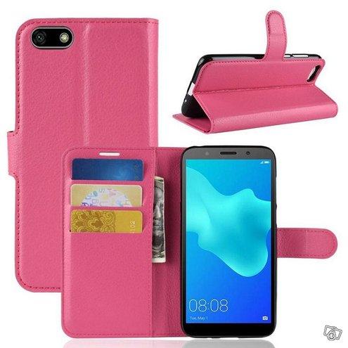 Huawei Honor 7S Lompakkokotelo Pinkki