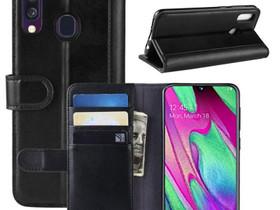 Samsung Galaxy A40 Nahkakotelo Musta Lompakko, Puhelintarvikkeet, Puhelimet ja tarvikkeet, Pori, Tori.fi