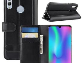 Huawei Honor 10 Lite Kotelo Musta Nahka, Puhelintarvikkeet, Puhelimet ja tarvikkeet, Pori, Tori.fi