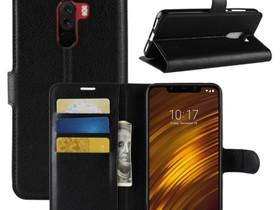 Xiaomi Pocophone F1 Lompakkokotelo Musta, Puhelintarvikkeet, Puhelimet ja tarvikkeet, Pori, Tori.fi