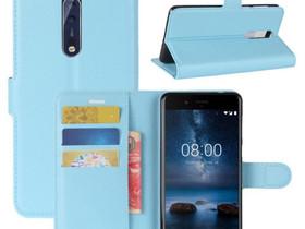 Nokia 8 Lompakkokotelo Pu-Nahka Sininen, Puhelintarvikkeet, Puhelimet ja tarvikkeet, Pori, Tori.fi