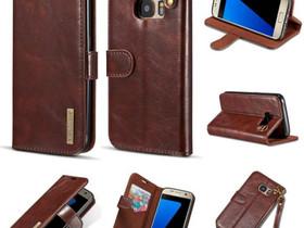 Samsung Galaxy S7 Nahkakotelo DG.MING Tummanruskea, Puhelintarvikkeet, Puhelimet ja tarvikkeet, Pori, Tori.fi