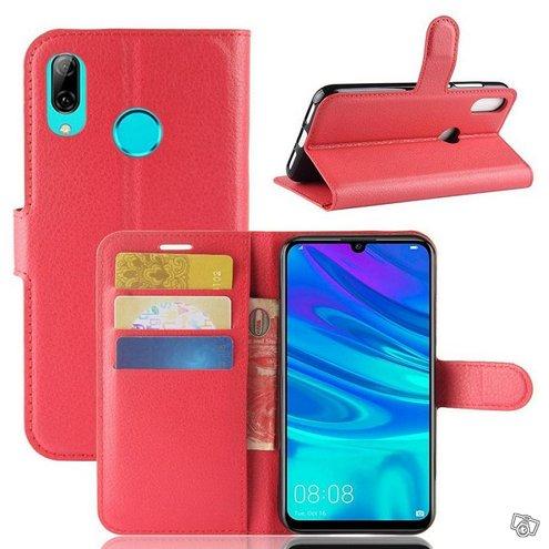 Huawei Y7 (2019) Suojakotelo PU-Nahka Punainen