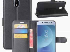Samsung Galaxy J3 (2017) Lompakkokotelo Musta, Puhelintarvikkeet, Puhelimet ja tarvikkeet, Pori, Tori.fi