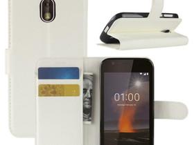 Nokia 1 Suojakotelo Valkoinen Lompakko, Puhelintarvikkeet, Puhelimet ja tarvikkeet, Pori, Tori.fi