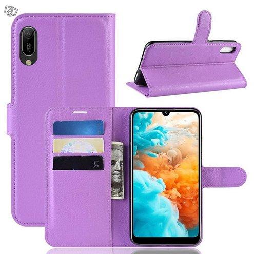 Huawei Y6 (2019) Suojakotelo PU-Nahka Violetti
