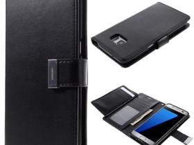 Samsung Galaxy S7 Edge Kotelo Musta Rich Diary, Puhelintarvikkeet, Puhelimet ja tarvikkeet, Pori, Tori.fi