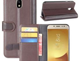 Samsung Galaxy J7 (2017) Nahkakotelo Ruskea, Puhelintarvikkeet, Puhelimet ja tarvikkeet, Pori, Tori.fi