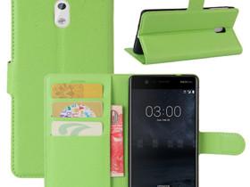 Nokia 3 Lompakkokotelo Suoja Vihreä, Puhelintarvikkeet, Puhelimet ja tarvikkeet, Pori, Tori.fi