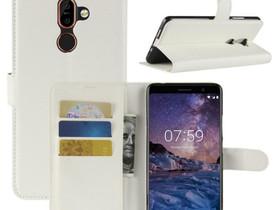 Nokia 7 Plus Suojakotelo PU-Nahka Valkoinen, Puhelintarvikkeet, Puhelimet ja tarvikkeet, Pori, Tori.fi