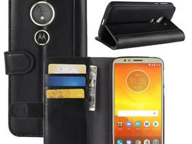 Motorola Moto E5 Suojakotelo Musta Nahka, Puhelintarvikkeet, Puhelimet ja tarvikkeet, Pori, Tori.fi
