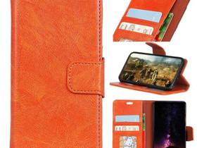 Motorola Moto E5 / G6 Play Nahkakotelo Oranssi, Puhelintarvikkeet, Puhelimet ja tarvikkeet, Pori, Tori.fi