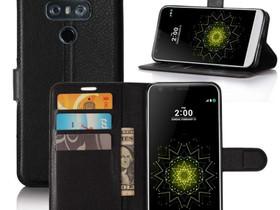 LG G6 H870 Lompakko Suojakotelo Musta, Puhelintarvikkeet, Puhelimet ja tarvikkeet, Pori, Tori.fi