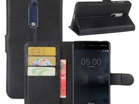 Nokia 5 Suojakotelo Musta Lompakko, Puhelintarvikkeet, Puhelimet ja tarvikkeet, Pori, Tori.fi