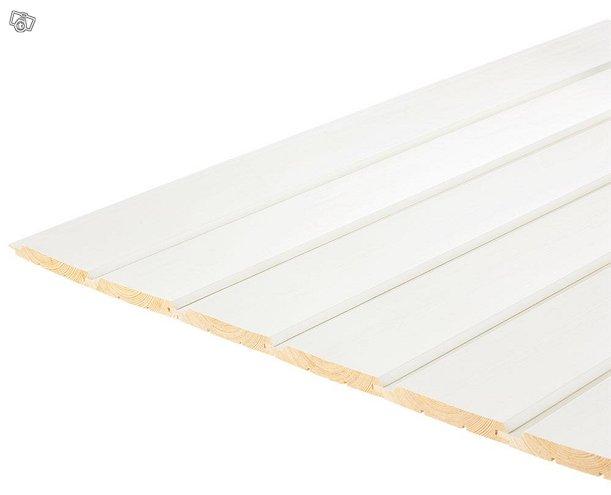 Katto-/seinäpaneeli 16x120 STV, maalattu vanilla