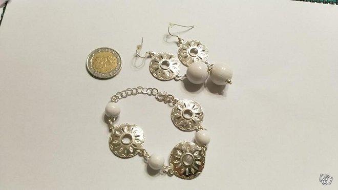 Rannekoru ja korvakorut, hopea 925