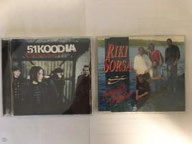 51KOODIA ja RIKI SORSA CD-levyt, Musiikki CD, DVD ja äänitteet, Musiikki ja soittimet, Riihimäki, Tori.fi