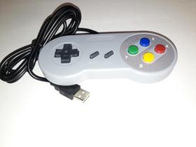 Retro SNES USB Gamepad Peliohjain (PC), Pelikonsolit ja pelaaminen, Viihde-elektroniikka, Lappeenranta, Tori.fi