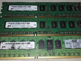 DDR3 10600 E ja R muisteja 2 ja 4 gt, Komponentit, Tietokoneet ja lisälaitteet, Oulu, Tori.fi