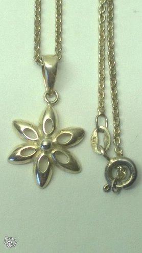Hopea kukka-riipus, hopea 925, design Jens Aagaard
