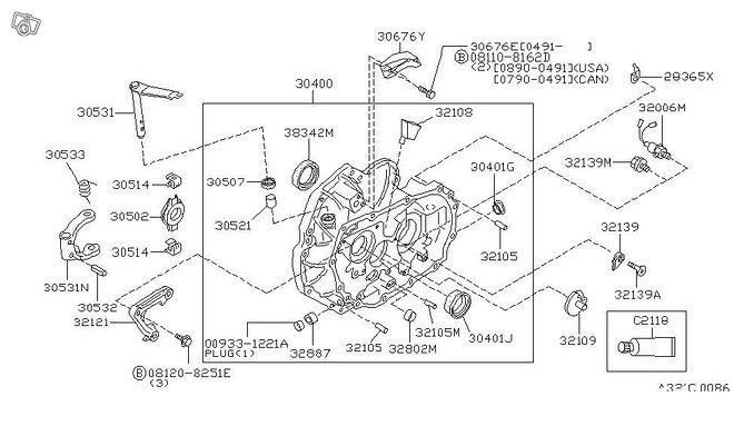 Nissan OEM 32858-M8003 tiiviste
