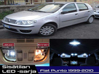 Fiat Punto (188) Sisätilan LED -sarja ;x12