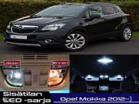 Opel Mokka Sisätilan LED -sarja ;12 -osainen