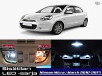 Nissan Micra (K13) Sisätilan LED -sarja ;6-osainen