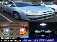 Citroen C4 Sisätilan LED -sarja ;x12