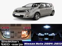 Nissan Note (E11) Sisätilan LED -sarja ;x9