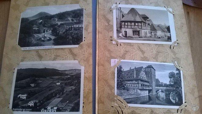 Vanhoja maisema/posti korteja vuodelta 1956