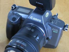 Kamera Canon EOS 600 + salama ja objektiivi, Kamerat, Kamerat ja valokuvaus, Lahti, Tori.fi