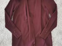 Aware (/Vero Moda) luumunpunainen tunikamekko, XS