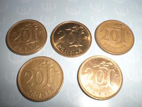 20 penniä 5kpl, Rahat ja mitalit, Keräily, Keuruu, Tori.fi