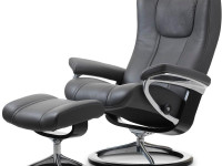 Uusi Stressless Wing M Signature-tuoli + rahi