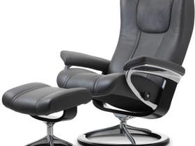 Uusi Stressless Wing M Signature-tuoli + rahi, Sohvat ja nojatuolit, Sisustus ja huonekalut, Iisalmi, Tori.fi