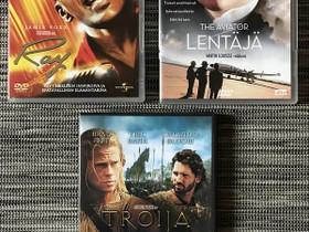 DVD videot: Ray, The Aviator - Lentäjä & Troija, Elokuvat, Kuopio, Tori.fi