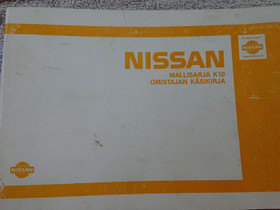 Nissan K10 - Omistajan käsikirja, Lisävarusteet ja autotarvikkeet, Auton varaosat ja tarvikkeet, Loppi, Tori.fi